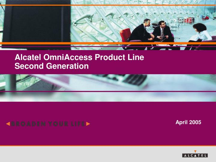 alcatel omniaccess product line second generation n.