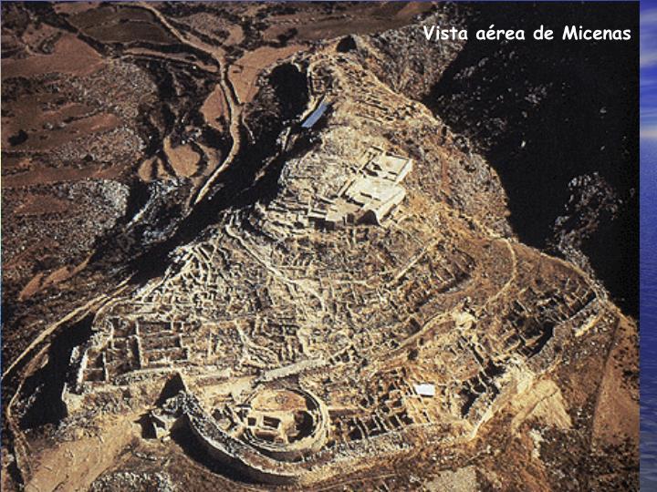 Vista aérea de Micenas