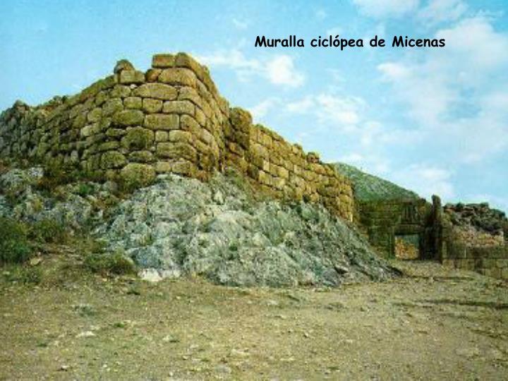 Muralla ciclópea de Micenas