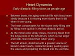 heart dynamics early diastolic filling slows as people age