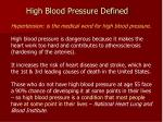 high blood pressure defined