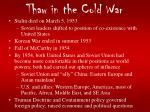 thaw in the cold war