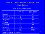 goal 6 combat hiv aids malaria and other diseases