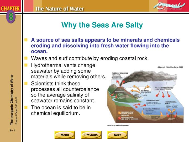 why the seas are salty n.