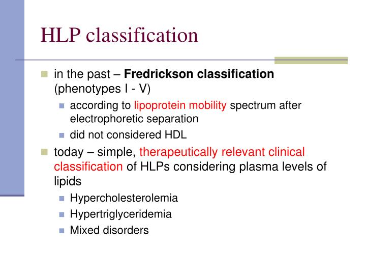 HLP classification