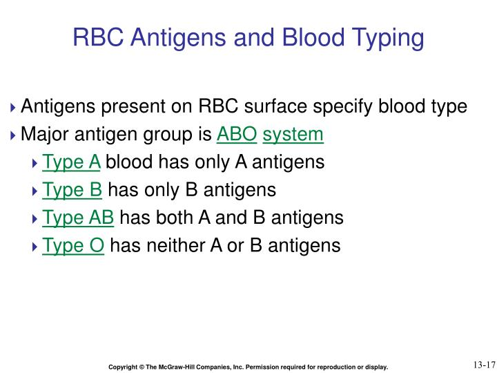 RBC Antigens and Blood Typing
