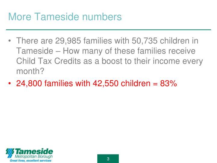 More tameside numbers
