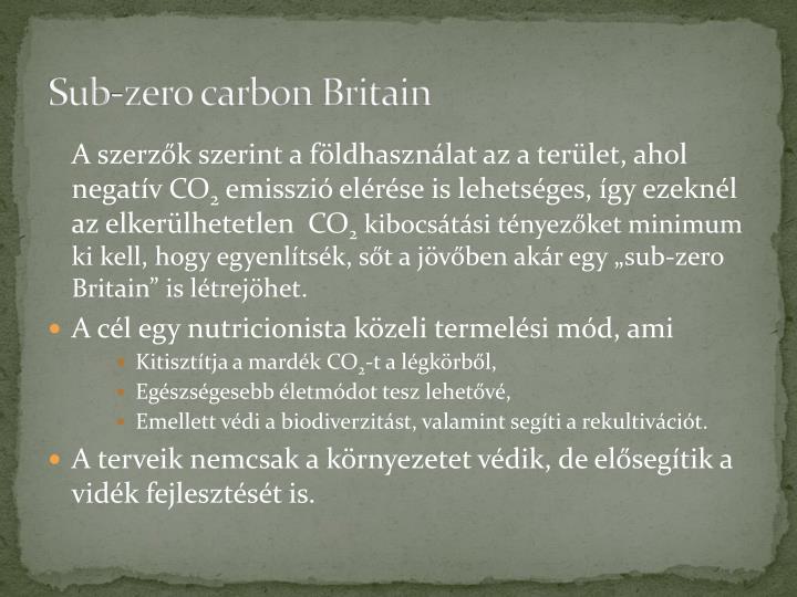 Sub-zero carbon Britain