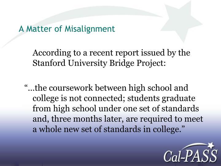 A matter of misalignment