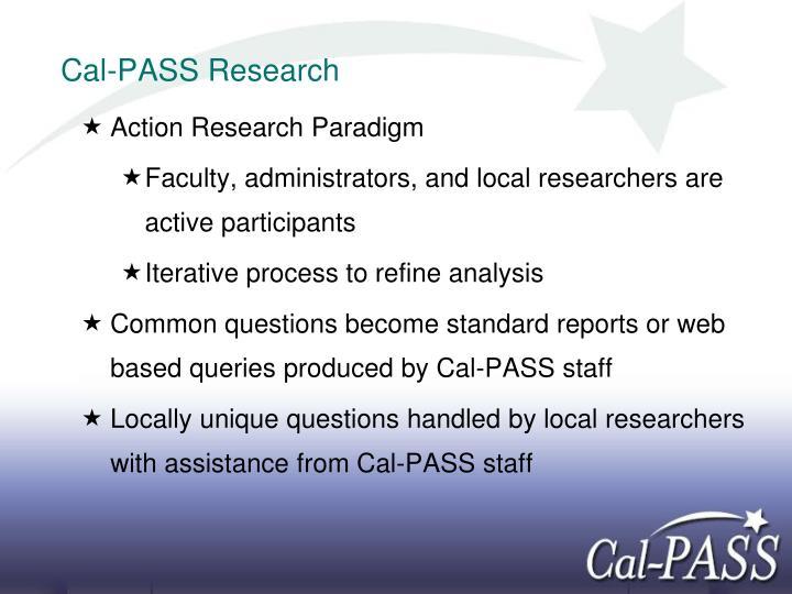 Cal-PASS Research