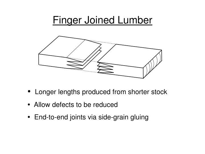 Finger Joined Lumber