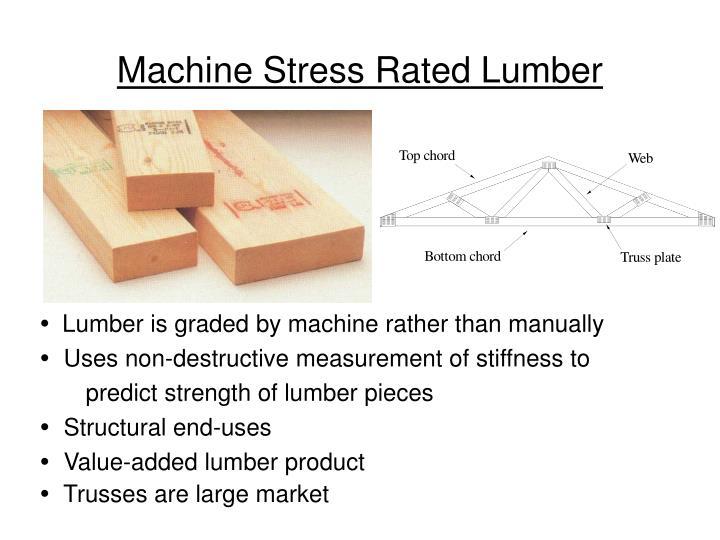 Machine Stress Rated Lumber