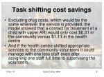 task shifting cost savings