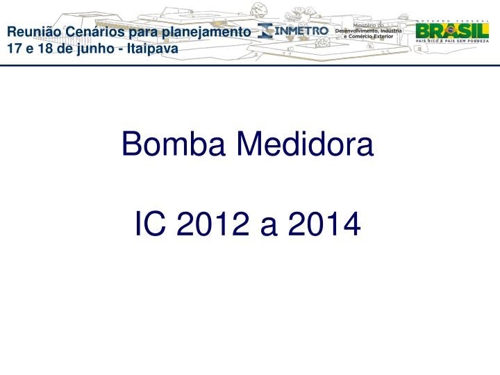 Bomba Medidora