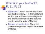 what is in your textbook fl 11 fl 12