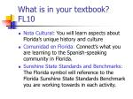 what is in your textbook fl10