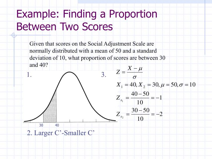 Example: Finding a Proportion Between Two Scores
