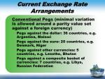 current exchange rate arrangements2