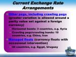 current exchange rate arrangements3