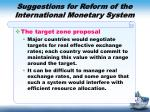 suggestions for reform of the international monetary system1