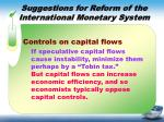 suggestions for reform of the international monetary system2