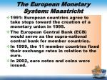 the european monetary system maastricht