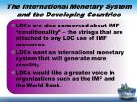 the international monetary system and the developing countries1