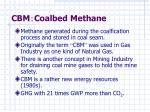 cbm coalbed methane
