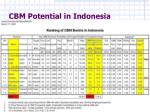 cbm potential in indonesia