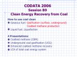 codata 2006 session b9 clean energy recovery from coal1