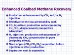 enhanced coalbed methane recovery