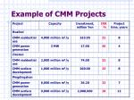 example of cmm projects