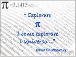 esplorare come esplorare l universo david chudnovsky