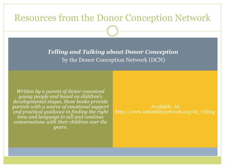 Resources from the Donor Conception Network