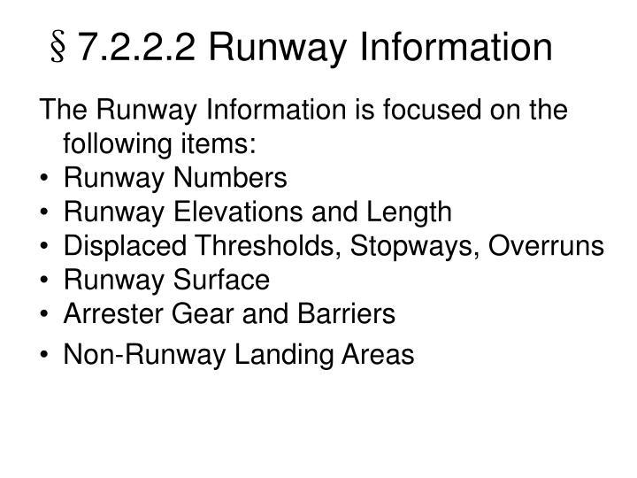 §7.2.2.2 Runway Information