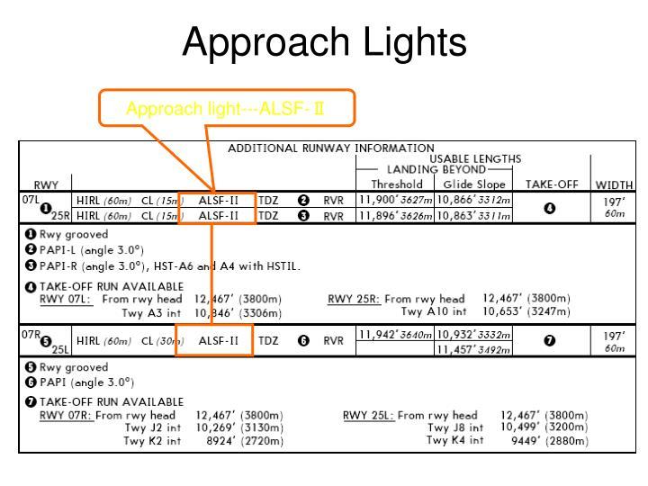 Approach Lights