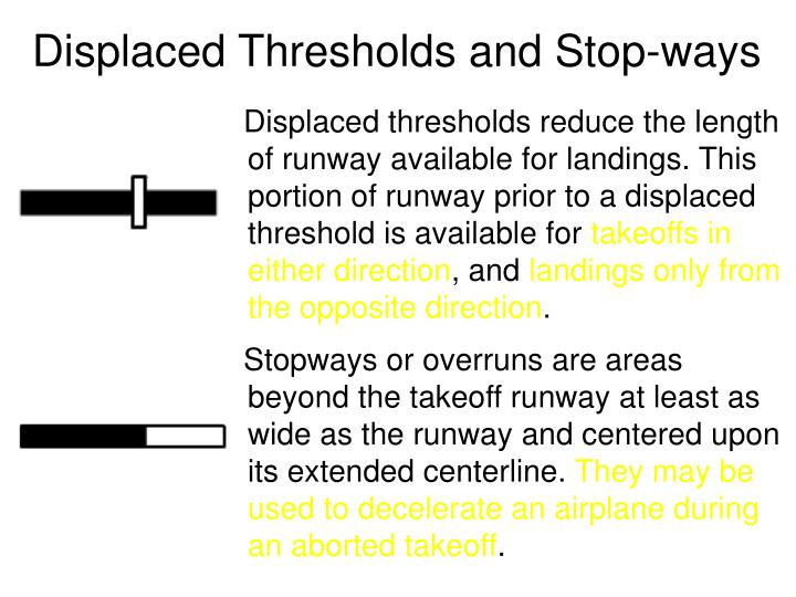 Displaced Thresholds and Stop-ways