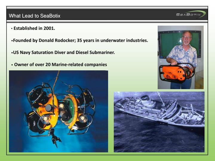 What Lead to SeaBotix