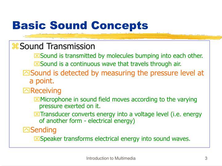 Basic sound concepts1