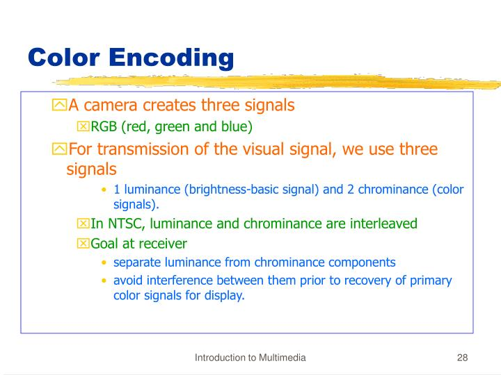 Color Encoding