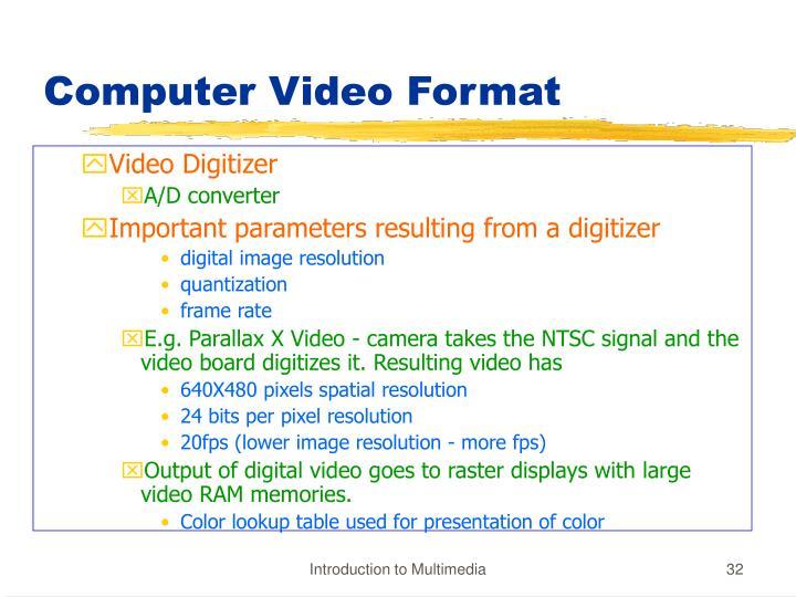 Computer Video Format