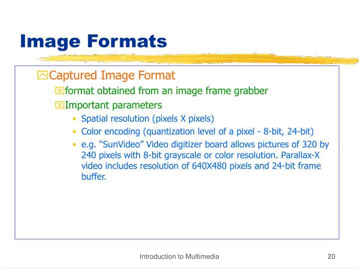 Image Formats
