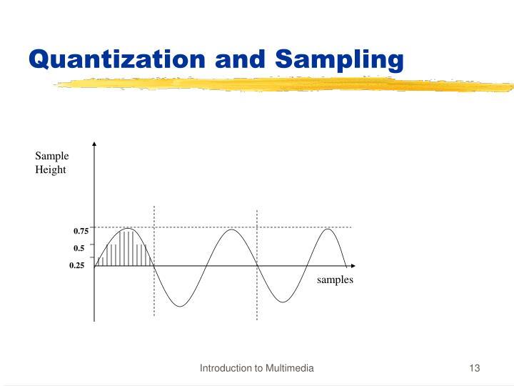 Quantization and Sampling