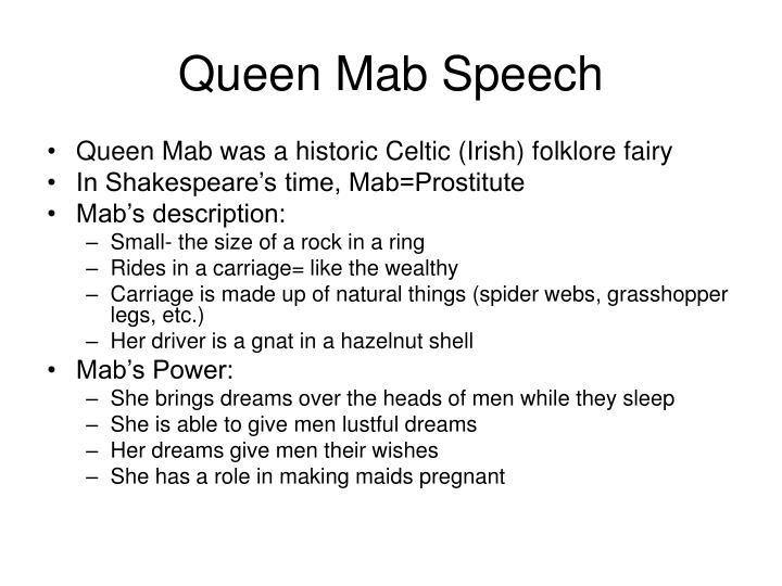 Queen Mab Speech
