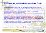 business negotiation in international trade