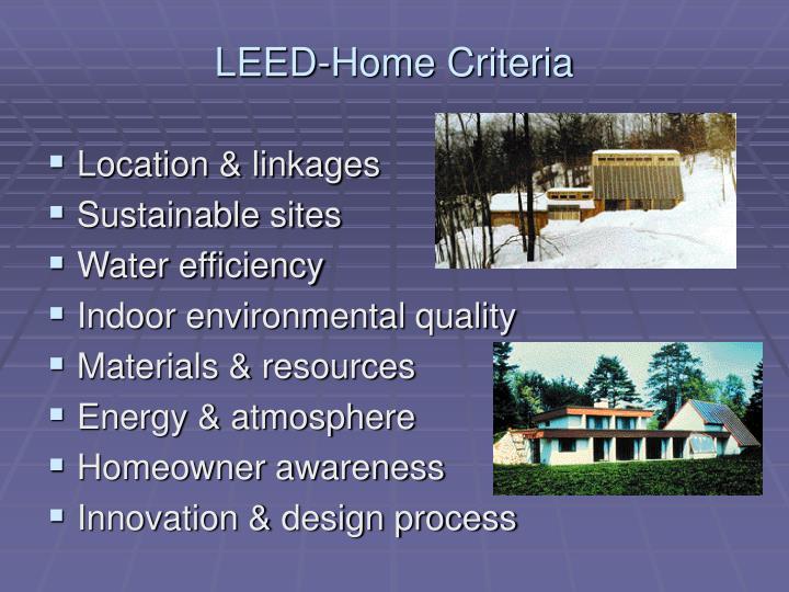 LEED-Home Criteria