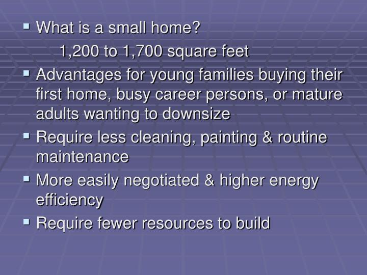 What is a small home?