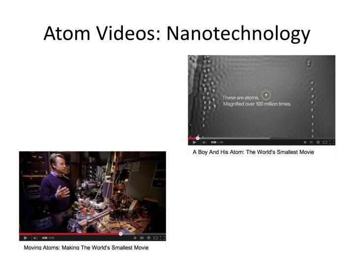 Atom videos nanotechnology
