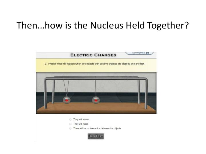 Then…how is the Nucleus Held Together?