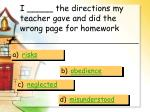 i the directions my teacher gave and did the wrong page for homework